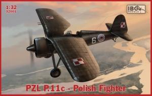 Samolot PZL.P11C polski myśliwiec skala 1-32 IBG 32001