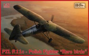 Samolot PZL.P11C polski myśliwiec Rare Birds skala 1-32 IBG 32004