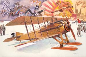 Samolot SPAD VII c1 model Roden 617