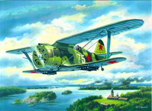 Samolot myśliwski Polikarpov I-153 Chaika ICM 72074