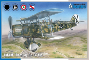 Samolot zwiadowczy IMAM Romeo RO.37 bis model Special Hobby 48185