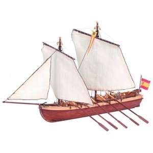 Szalupa Santisima Trinidad Artesania 19014 drewniany statek 1-50