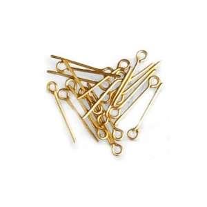 Szpilki mosiężne 15 mm z oczkami - Artesania 8606