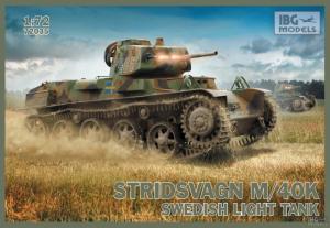 Szwedzki czołg lekki Stridsvagn M/40K IBG 72035