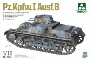 Takom 1010 Czołg Pz.Kpfw.I Ausf. B skala 1-16