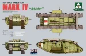 Takom 2008 model czołgu Mark IV Male