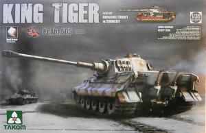 Takom 2047s King Tiger Henschel Turret Pz.Abt.505 w/Zimmerit
