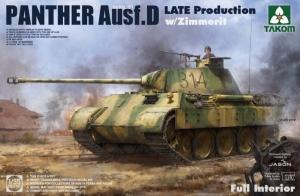 Takom 2104 Czołg Panther Ausf.D z wnętrzem i Zimmerit-em