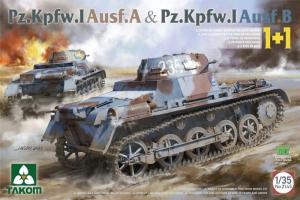 Takom 2145 Dwa czołgi Pz.Kpfw.I A i Pz.Kpfw.I B modele 1-35