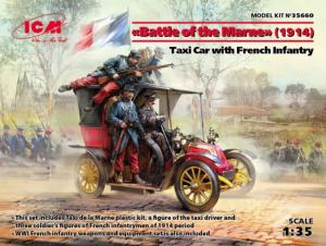 Taksówka z żołnierzami Battle of the Marne 1914 ICM 35660