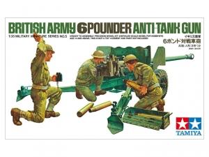 Tamiya 35005 Sześciofuntowa brytyjska armata wraz z obsługą