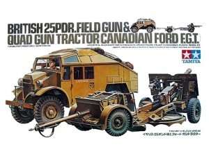 Tamiya 35044 British 25PDR. Field Gun and Quad Gun Tractor