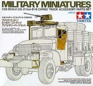 Tamiya 35231 U.S 2 1/2 ton 6x6 Cargo Truck accesory parts set