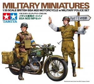 Tamiya 35316 Motocykl BSA M20 i figurki wojskowej policji