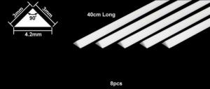 Tamiya 70117 Pręt polistyrenowy trójkątny 3mm dł. 40cm 8szt.