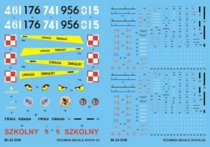 Techmod 35101 Kalkomania do śmigłowca Mi-24D/W polska