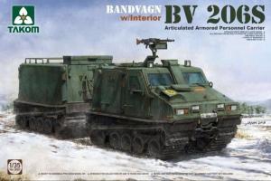 Transporter Bandvagn BV206S model Takom 2083 z wnętrzem