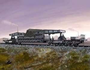 Transporter kolejowy dla działa Karl-Gerat Hobby Boss 82906