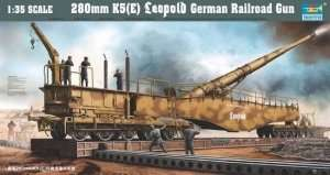 Trumpeter 00207 Rail road gun 280mm K5 (E) Leopold