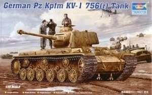 Trumpeter 00366 German Pz.Kpfm KV-1 756(r) Tank