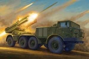 Trumpeter 01026 Russian 9P140 TEL of 9K57 Uragan MLRS