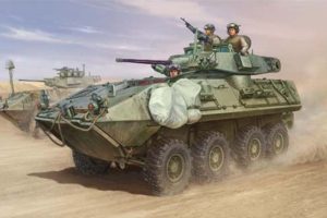 Trumpeter 01521 LAV-A2 8X8 wheeled armoured vehicle