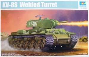 Trumpeter 01568 KV-8S Welded Turret