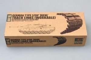 Trumpeter 02039 gąsienice typu 570P DIEHL do czołgu Leopard 2 A5/A6 MBT