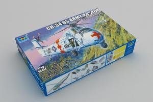 Trumpeter 02883 Śmigłowiec ratowniczy CH-34 model 1-48