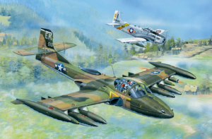Trumpeter 02888 US A-37A Dragonfly Light Ground-Attack Aircraft model 1-48