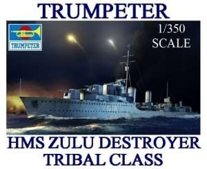 Trumpeter 05332 HMS Zulu Destroyer 1941