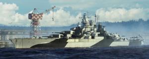 Trumpeter 05782 Pancernik USS Tennessee BB-43 1944