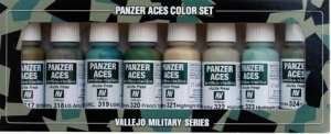 Vallejo 70126 Zestaw 8 farb Model Color - Panzer Aces 3 (Crew Uniforms)