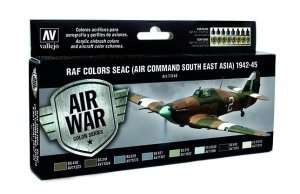 Vallejo 71146 Zestaw 8 farb - RAF Colors SEAC (Air Command South East Asia) 42-45
