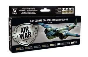 Vallejo 71148 Zestaw 8 farb - RAF Colors Coastal Command 1939-45