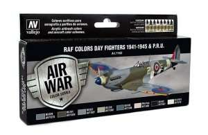 Vallejo 71162 Zestaw 8 farb - RAF Colors Day Fighters 1941-45 & P.R.U.