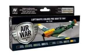 Vallejo 71165 Zestaw 8 farb - Luftwaffe Colors Pre-War to 1941