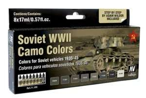 Vallejo 71188 Zestaw 8 farb - Soviet WWII Camo Colors