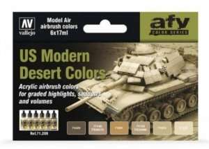 Vallejo 71209 Zestaw 6 farb - US Modern Desert Colors