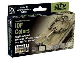 Vallejo 71210 Zestaw 6 farb - IDF Colors