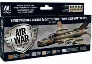 Vallejo 71604 Zestaw farb Soviet/Russian colors Su-7/17 Fitter