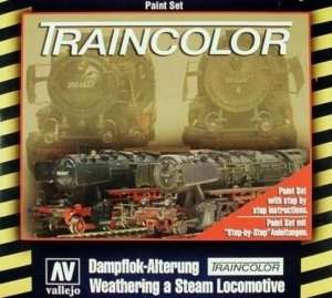 Vallejo 73099 Zestaw farb Traincolor do malowania lokomotyw