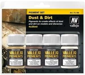 Vallejo 73190 Kurz i brud - zestaw 4 pigmentów