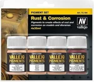 Vallejo 73194 Rdza i korozja - zestaw 4 pigmentów