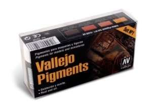 Vallejo 73196 - Pigment Set No.1 - Rust and oil - 4x30ml