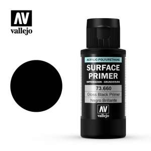Vallejo 73660 Surface Primer - Gloss Black 60 ml