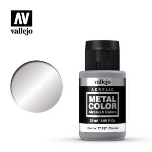 Vallejo 77707 Chrome 32ml Acrylic Metal Color
