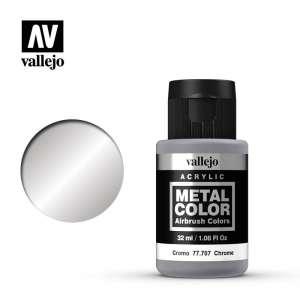 Vallejo 77707 Chrome 32ml Acrylic Metal Color