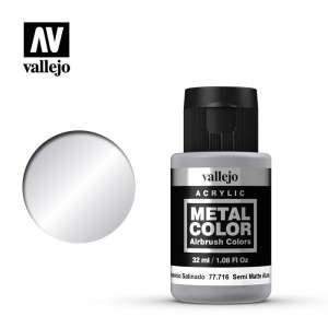 Vallejo 77716 Semi Matt Aluminium 32ml Acrylic Metal Color