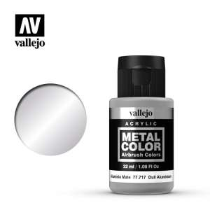 Vallejo 77717 Dull Aluminium 32ml Acrylic Metal Color
